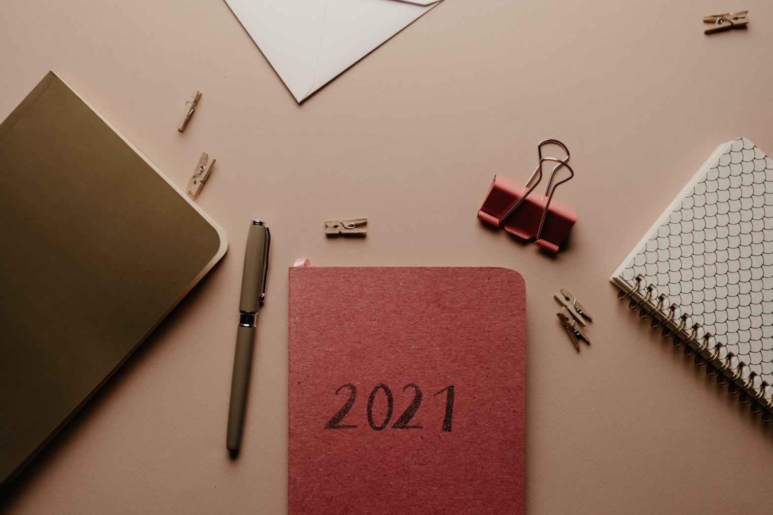 agenda 2021 et fournitures de bureau